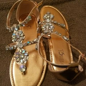 Shoes - Beautiful Rose Gold Sandals